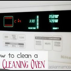 Cleaning an oven can be tricky but Ask Anna has great tips for how to clean a self cleaning oven and how to clean between oven glass Self Cleaning Ovens, House Cleaning Tips, Spring Cleaning, Cleaning Hacks, Cleaning Supplies, Microwave Cleaning, Diy Cleaners, Cleaners Homemade, Oven Cleaner