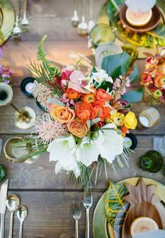 So much color! I would love some of this on a bed if green - rustic meets boho chic + whimsy