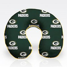 455c9ea2d Officially Licensed NFL Polyester Travel Pillow - Green Bay Packers
