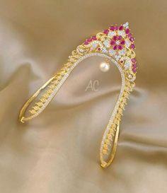 Gold Jewelry Simple, Gold Rings Jewelry, Gold Bangles, Jewelery, Vanki Designs Jewellery, Gold Earrings Designs, Jewelry Design, 1 Gram Gold Jewellery, Gold Temple Jewellery