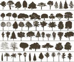 Vector bomen — Stockvector