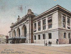 Union Station Albany New York NY Antique postcard