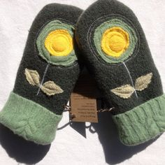 Recycled Wool Sweater Mittens womens  size medium by OldWoolNew, $30.00