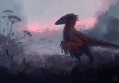 Utahraptor by William Gozak