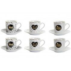 Eszpresszó kávés szett 6db Sugar Bowl, Bowl Set, Mugs, Tableware, Dinnerware, Tumblers, Tablewares, Mug, Dishes
