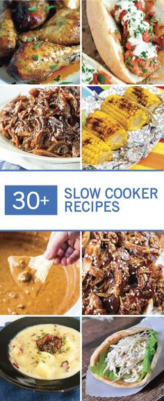 Summer is full of fun activities with the whole family. Find the perfect dinner idea to enjoy all those moments with this collection of 30+ Slow Cooker Recipes. We're talking easy barbecue, delicious desserts, and more!