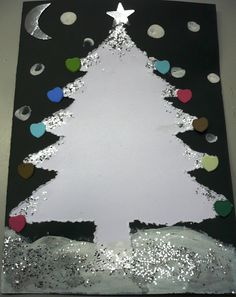 pitavoles: Christmas cards for children 5 years Childrens Christmas Crafts, Christmas Art Projects, Christmas Trees For Kids, Preschool Christmas, Noel Christmas, Christmas Activities, Xmas Crafts, Christmas Cards, Xmas Tree