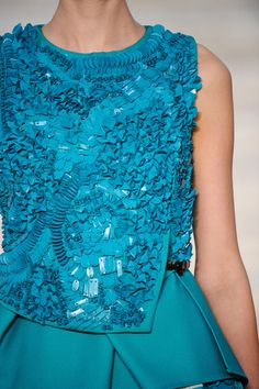 turquoise texture embroidery