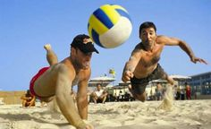 beach volleyball diving