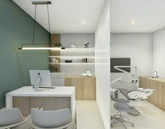 Far Dental Office Awesome Clinic Interior Design, Interior Design Portfolios, Design Salon, Clinic Design, Design Offices, Modern Offices, Design Design, Medical Office Interior, Medical Office Design