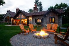 Patio With Fire Pit And Adirondack Chairs : Timeless Adirondack Outdoor Chairs