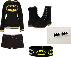 """Batman Outfit"" by tigerseye43 on Polyvore"