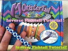 Selection of some truly awesome patterns to create with the new mini MonsterTail and even on some standard Rainbow Loom boards. Fishtail designs create striking bracelets for kids and adults to wear. Rainbow Loom Bracelets Easy, Loom Band Bracelets, Rainbow Loom Tutorials, Rainbow Loom Patterns, Rainbow Loom Creations, Rainbow Loom Charms, Diy Bracelets Easy, Loom Band Patterns, Loom Bracelet Patterns