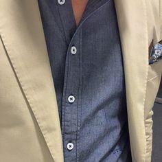 #Italian #Indigo and #Drillino make a great combo. #jhilburn #ashirtthatfits #customshirts #sportcoats #accessories #menswear #menstyle #style #fashion #sartorial #stylish  (at J.Hilburn Home Office)