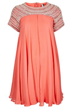 Topshop - LE Pearl Shift Dress. I've been craving color lately (mainly because I have to wear black to work). Coral always seems to brighten up my face, no matter how late the night gets. Plus this one makes me feel like dancing...or twirling, at least.