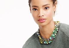A J. Crew necklace/collar that's BEAUTIFUL and I wonder if I could make it...