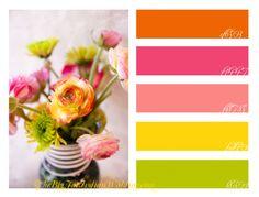 Pink Orange Flowers Wedding for Color Palette Monday