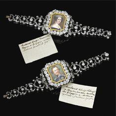 IMPRESSIVE PAIR OF DIAMOND BRACELETS, PROBABLY BY CASPAR RIELÄNDER, MID 19TH…