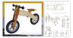 Wooden Bike Woodworking Plans Wooden Balance Bike By Boris Beaulant At Lumberjockscom, This Might Be A Christmas Gift For You Know Who Stuff That, Walnut Wood Triathlon Bicycle Frame 9 Steps With Pictures, Wooden Scooter, Wood Bike, Wood Kids Toys, Wood Toys, Boat Bed, Baby Bike, Push Bikes, Bamboo Crafts, Balance Bike