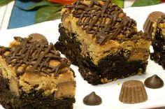 Heavenly Peanut Butter Brownie Bars Recipe © 2015 Peggy Trowbridge Filippone