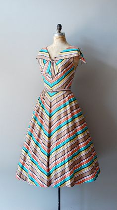#summer #fashion #chevron #dress #1950s #partydress #vintage #frock #retro #sundress #stripped #romantic #feminine
