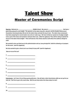 Talent Show: The Kit To Run Your Event