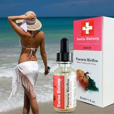 Pueraria Mirifica Serum is an Anti-sagging natural & organic breast enhancement product by Swiss Botany.  #naturalskincare  #antiaging #skincareproducts by #swissbotany