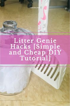 Looking for an easy DIY litter genie? Check this one out! I've used this for months. It's so much cheaper and easier to clean than the real thing. This litter genie hack will keep the litter box smell out and keep the litter area clean. Check out this simple DIY litter box hack today! Litter Box Smell, Diy Litter Box, Best Cat Litter, Simple Diy, Easy Diy, Diy Cat Toys, Cat Hacks, Cat Decor, Cat Supplies