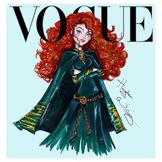 Hayden Williams Disney Divas for Vogue by Hayden Williams: Merida