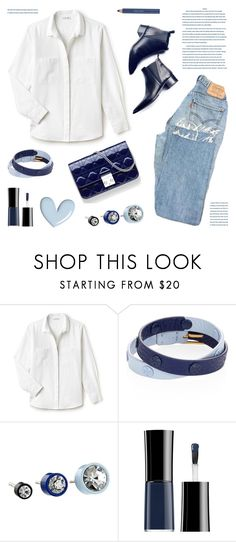 """""""White shirt and jeans"""" by deepwinter ❤ liked on Polyvore featuring Lacoste, Acne Studios, Tory Burch, Marc by Marc Jacobs, Giorgio Armani and Estée Lauder"""