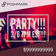 So excited!!!! Cohosting another party!!! I'm so excited, I'll be hosting another posh party on 3/6 at 7est!! I will update when a theme is chosen! Looking out for posh compliant closets!! Thanks for helping me spread the word!! Share my closet and spread the word!!! Other