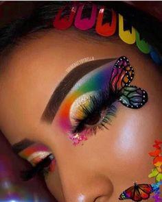 "- History of eye makeup ""Eye care"", quite simply, ""eye make-up"" is definitely an area Dark Eye Makeup, Makeup Eye Looks, Dramatic Eye Makeup, Eye Makeup Art, Crazy Makeup, Smokey Eye Makeup, Eyeshadow Makeup, Eyeshadows, Fairy Makeup"
