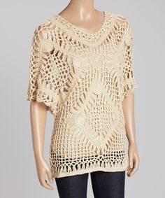Look what I found on #zulily! Aqua Blue Gold Crochet Top by Aqua Blue #zulilyfinds