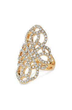 Gold & Black Diamond Rhinestone Statement Ring | Haven Ring | Stella & Dot
