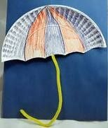 Simple idea for April craft with paper plate and pipe cleaner