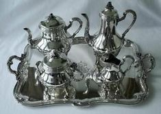 Antique 19th Century 5 Piece French Sterling Silver Tea & Coffee Service Set  in Antiques, Silver, Sterling Silver (.925), Tea/Coffee Pots & Sets | eBay