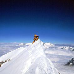 Jean-Christophe Lafaille au sommet de l'Annapurna