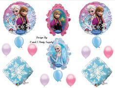 Amazon.com: Frozen snowflakes Disney Movie BIRTHDAY PARTY Balloons Decorations Supplies: Everything Else $16.98