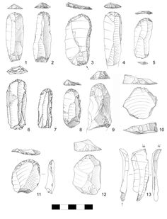 Early Ahmarian Tools - Re-Wilding Native American Tools, Native American Artifacts, American Indian Art, American Indians, Indian Artifacts, Ancient Artifacts, Stone Age Tools, Science Illustration, Native Indian
