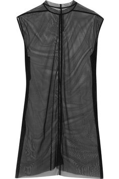 Rick Owens - Stretch-mesh Top - Black - IT42