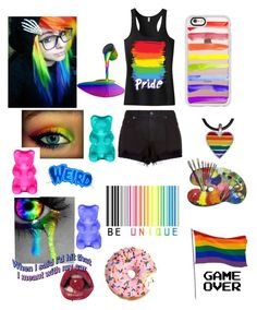 """""""Allyce Is A Gay Baby  ×contest×"""" by pansexual-girl-loves-all-booty ❤ liked on Polyvore featuring art"""