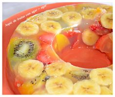 Timbal de frutas con agar- agar