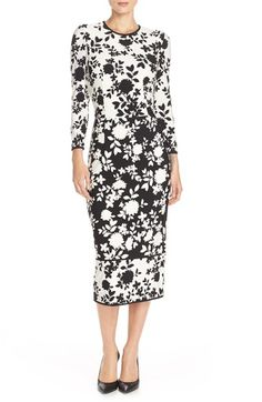 Maggy London Floral Print Jersey Midi Dress available at #Nordstrom