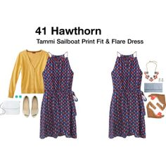 "HAVE to have this dress!!!  ""Tammi Sailboat Print Fit & Flare Dress"" by katrinalake on Polyvore"