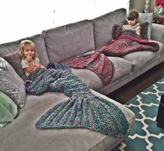 """""""Mermaiding"""" (the act of pretending to be a mermaid) is a fun summer activity for some, but it can be difficult to pull off in the winter. Luckily, theCassJamesDesigns Etsy store run by Melanie Campbell sells crocheted mermaid tails that are a cozy and playful way to wrap up and stay warm. Whether you're an …"""