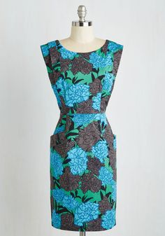 Greenhouse Hostess Dress. With your new arrivals ready to bloom, you excitedly slip into this pocketed Plenty by Tracy Reese frock to show off your sprouts! #multi #modcloth