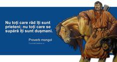 """""""Nu toți care râd îți sunt prieteni; nu toți care se supără îți sunt dușmani"""". Proverb mongol Mongolia, Proverbs, Quotes, Movies, Movie Posters, Quotations, Films, Film Poster, Cinema"""
