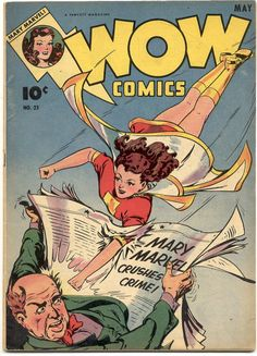 Wow Comics #25, May 1944, cover by Jack Binder