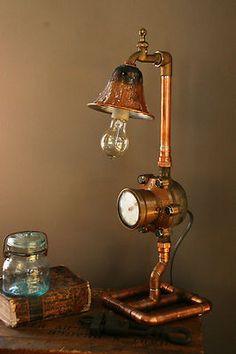 Antique Water Meter Lamp