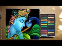 drawing of krishna in soft pastels painting/easy drawing of soft pastel - Trend Topic For You 2020 Oil Pastel Paintings, Oil Pastel Drawings, Indian Art Paintings, Colorful Drawings, Easy Drawings, Art Painting Gallery, Easy Canvas Painting, Diy Canvas Art, Painting Abstract